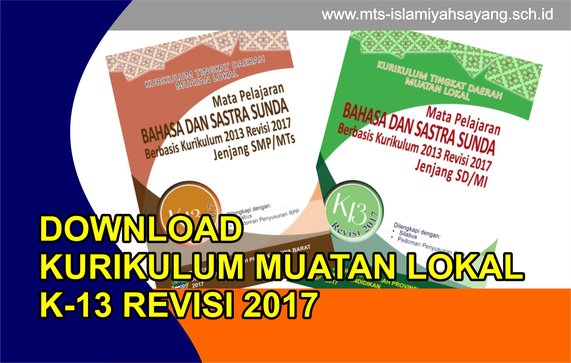 Download KI KD Muatan Lokal Bahasa Sunda Kurikulum 2013 Revisi 2017