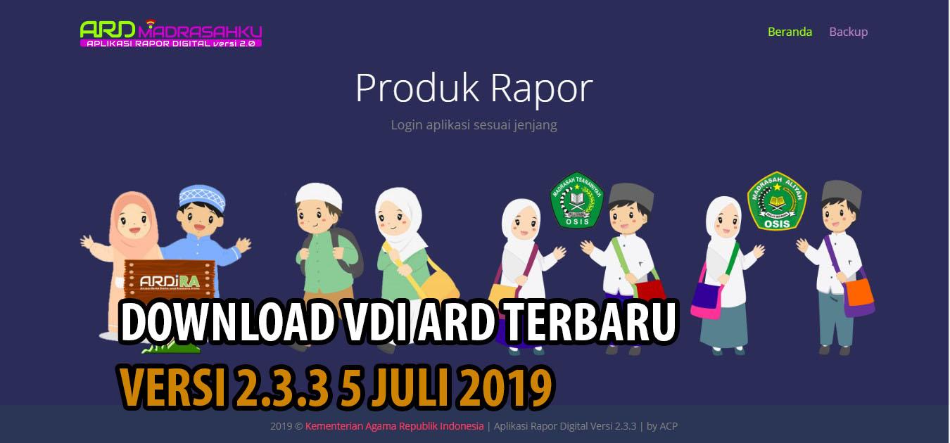 Download VDI Terbaru ARD Versi 2.3.3 Untuk Semua Jenjang